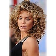 Mulher Perucas de cabelo capless do cabelo humano Castanha Brown / Bleach Loiro Curto Ondulado Corte em Camadas