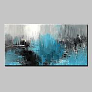 Kézzel festett Absztrakt Vízszintes,Absztrakt Modern Egy elem Vászon Hang festett olajfestmény For lakberendezési