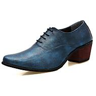 Masculino sapatos Couro Ecológico Primavera Outono Conforto Oxfords Para Preto Prata Vermelho Azul