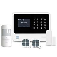 O sistema de alarme de segurança wifi / gsm de casa inteligente suporta 8 unidades com fio e 100 zonas de defesa sem fio com 100 soquetes