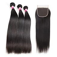 Menneskehår Vevet Brasiliansk hår Rett 1 år 4 deler hår vever kg Raske hårvever