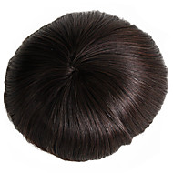 Men's Toupee 7x9 Inch Human Hair Mono Base Hairpiece Hair Replacement System Monofilament Net Base for Men