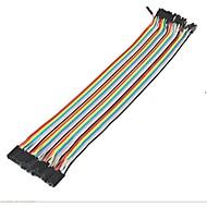 40ks dupont female to female jumper wire 30cm