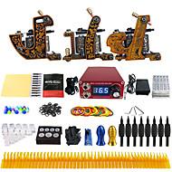完全なタトゥーキット 3 xライニングとシェーディング用鋳鉄入れ墨機械 3 タトゥーマシン インクは別々に出荷します