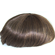 6 Inches Remy Human Hair Man Toupee Human Hair Toupee 8x10 Inches Mono Base Men Hair Piece Color #4