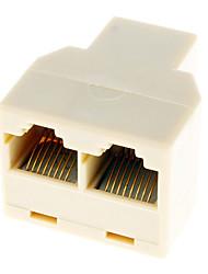 RJ45 1 עד 2 LAN כבל רשת Y ספליטר Extender Plug