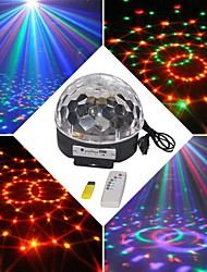 18w rgb led mp3 vaiheessa dj Disco Club pub osapuoli kristalli Magic Ball valo eu (ac100-240v)