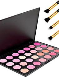 28 színben professzionális kozmetikai smink kozmetikai elpirul blusher por paletta + 4db ceruza smink ecset