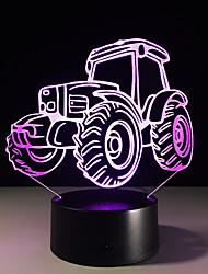 1pc טרקטור סטריאו חזון צבעוני הוביל אור מנורת 3D אקריליק שיפוע צבעוני חזון מנורת לילה אור
