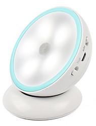 0.5W criativo quarto corredor giro de 360 graus levou o carregamento lâmpada de indução humana (5v usb de carregamento)