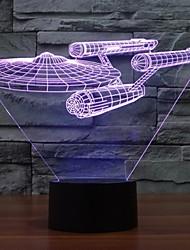 7 cores luzes mudança 3d Star Trek encouraçado coloridos levaram luzes decorativas atmosfera visuais interruptor de toque luzes