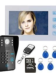 7 nahrávání rfid heslo video dveřní telefon intercom dveřní zvonek s 8g tf karty noční vidění bezpečnostní CCTV kamery