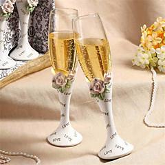 chique diamant-embedded steeg ontwerp huwelijk roosteren fluiten