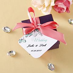 personalizado etiquetas favor - flor verde (conjunto de 36)