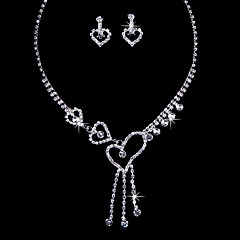 Love Alloy Wedding/Party Jewelry Set With Rhinestone