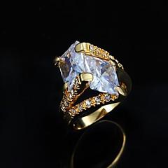 Damen Bandringe Modeschmuck Kupfer 18K Gold Schmuck Für Alltag Normal