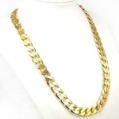 Herre Dame Kjedehalskjeder Sirkelformet Gullbelagt Mote Personalisert Klassisk kostyme smykker Smykker Til Daglig Avslappet Sport
