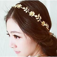 Vintage gold kukka ja lehtiä Crystal hiuspanta panta pään ketjun hiukset korut hiukset accessires pää korut