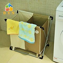 byn dobbelt taske vasketøjskurv, 60x35x55cm (24x14x22inch)