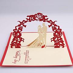 """Dobrado de Lado Convites de casamento 1-Cartões Pré-Convite Papel de Cartão 4 ¾""""×5 ½"""""""