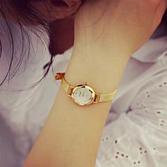 Mulheres Relógio de Moda Bracele Relógio Quartzo PU Banda Vintage Dourada Dourado
