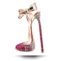 Sul-coreano de casamento broche de arco de diamante sapatos de salto alto