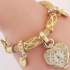 Mulheres Infantil Relógio de Moda Relógio de Pulso Bracele Relógio Quartzo Strass imitação de diamante Lega BandaVintage Heart Shape