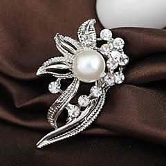 Feminino Broches Moda bijuterias Strass Liga Jóias Para Casamento Festa Ocasião Especial Aniversário Diário