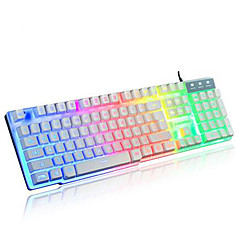 Regenbogen mechanische verdrahteten USB Touch wasserdicht pro Laptop Desktop beleuchtet Computer-Tastaturen