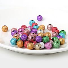 Beadia 10mm Acrylic Beads Gold Silver Plastic Beads 28g(Aprx.50pcs)