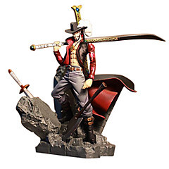 애니메이션 액션 피규어 에서 영감을 받다 One Piece 드라큘라 미호크 PVC 15 CM 모델 완구 인형 장난감
