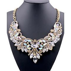 נשים שרשראות הצהרה קריסטל אבן נוצצת סגסוגת אופנתי תכשיטים תכשיטים עבור חתונה Party יומי קזו'אל