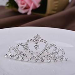 barn krone hjerte lettmetall tiaraer
