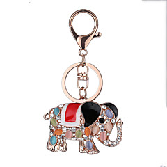 Europe And The United States New Realistic Guitar Key Chain Elephant Key Chain Bag Car Key Pendant Valentine's Day Gift Factory Direct Sales