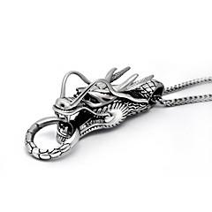 Herre Anheng Halskjede Halskjede Titanium Stål Dyredesign Sølv Smykker Bryllup Fest Daglig 1 stk