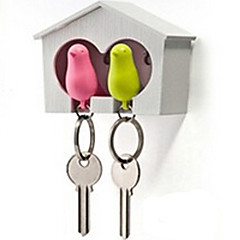 Key Chain Bird Lovely Whistle Rainbow ABS
