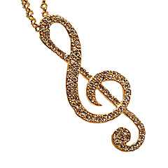 Kvinners Elegant Long Full Zircon Sharp Staradivarius Necklace