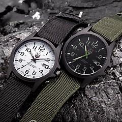 גברים לנשים לזוג שעוני ספורט שעונים צבאיים שעוני שמלה שעוני אופנה שעון יד קווארץ פאנק צבעוני צג גדול בד להקה וינטאג' מגניב יום יומישחור