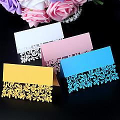 Placecard Holders-Pearl Paper-Hiekkaranta-teema Puutarha-teema Koruton Teema-Valkoinen Vaaleanpunainen Sininen Kulta Yleinen