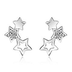 Peckové náušnice Kubický zirkon bižuterie Stříbro Šperky Pro Svatební Párty Denní Ležérní