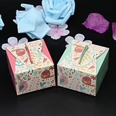 50 Adet/Set Favor Tutucu-Kuboid Kart Kağıdı Hediye Kutuları Kişiselleştirilmemiş