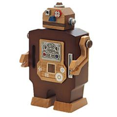 Boîte à musique Robot Nouveauté Bois