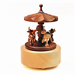 Music Box Válcový Dřevo