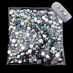 1000pcs / pakkaus 4mm uusi saapuu Glitter akryyli kynsien art ab Crystal strassi viehätys DIY kauneus 3d kynsien koristelutyökalut