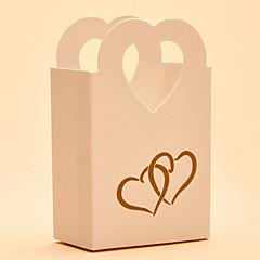 25 Kusů v sadě Favor Holder-Tvar srdce Lepenkový papír Krabice na výslužky Nádoby na cukrovinky Dárkové krabice Nepřizpůsobeno