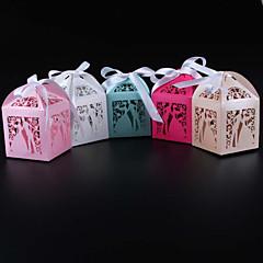 50 Adet/Set Favor Tutucu-Kuboid İnci Kağıdı Hediye Kutuları