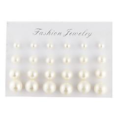 Homme Femme Boucles d'oreille goujon Elegant bijoux de fantaisie Perle Imitation de perle Imitation Diamant Goutte Balle Bijoux Pour