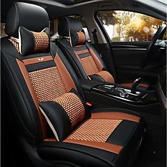 O assento do assento do novo carro tampa do assento de couro quatro estações de gelo geral em torno de cinco assentos para 2 assento