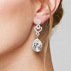 Femme Boucles d'oreille goutte Boucles d'Oreille Mode Elegant Mariée bijoux de fantaisie Imitation Diamant Alliage Goutte Bijoux Pour