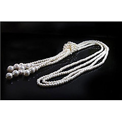 Kvinners uttalelse halskjeder imitasjon perle dusk smykker for bryllupsfesten halloween bursdagsavdeling gave daglig